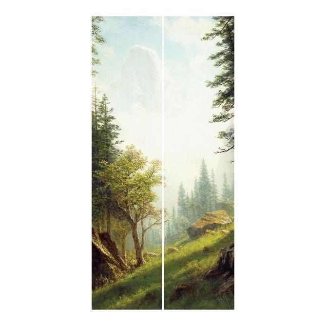 Schiebegardinen Set - Albert Bierstadt - In den Berner Alpen - 3 Flächenvorhänge