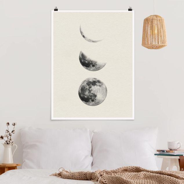 Poster - Drei Monde - Hochformat 3:4