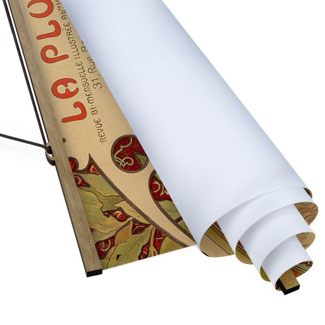Stoffbild mit Posterleisten - Alfons Mucha - Sternkreiszeichen - Hochformat 1:2