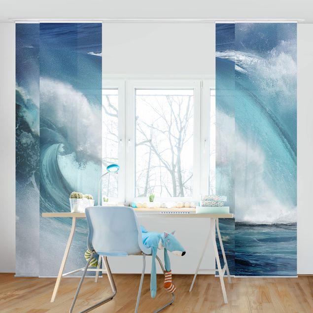 Schiebegardinen Set - Tosende Wellen - Flächenvorhänge