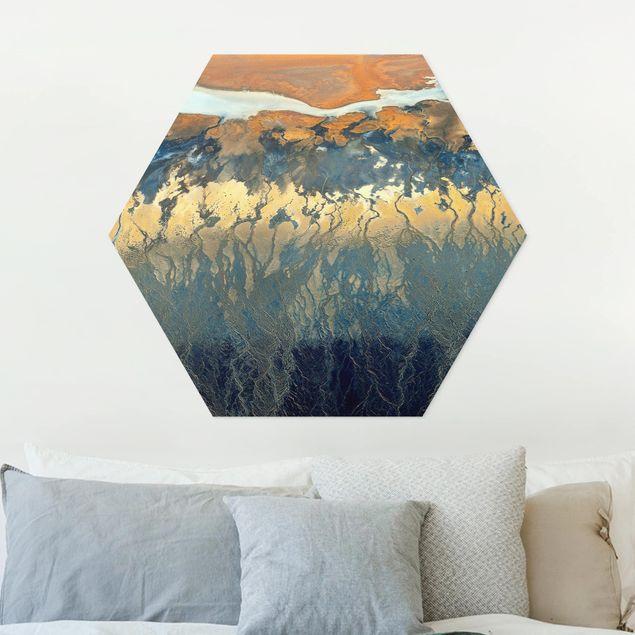 Hexagon Bild Forex - Kalifornien aus der Luft