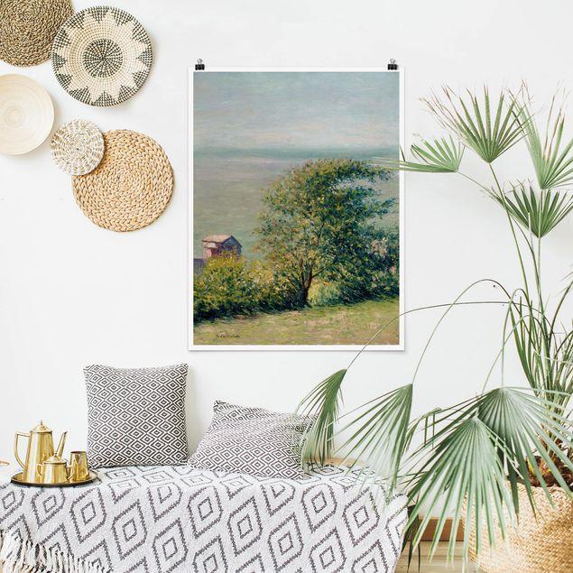 Poster - Gustave Caillebotte - Am Meer bei Villerville - Hochformat 3:4
