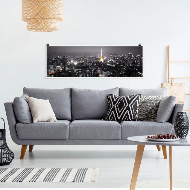 Poster - Tokio - Panorama Querformat