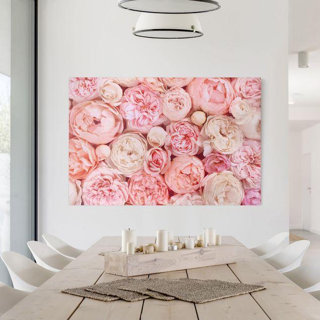 Leinwandbild - Rosen Rosé Koralle Shabby - Querformat 2:3