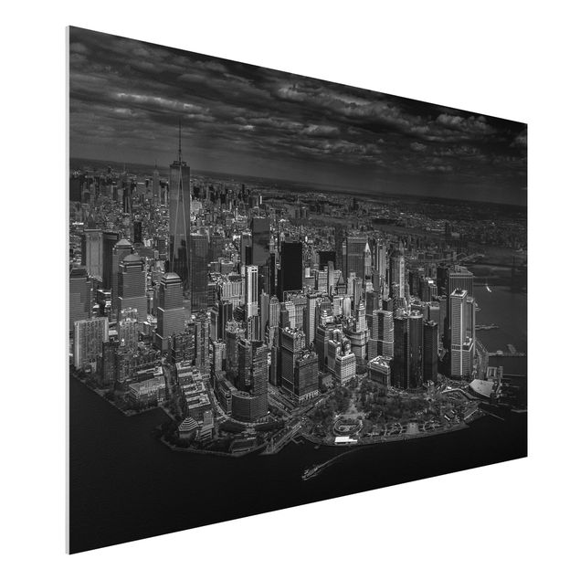 Forex Fine Art Print - New York - Manhattan aus der Luft - Querformat 2:3