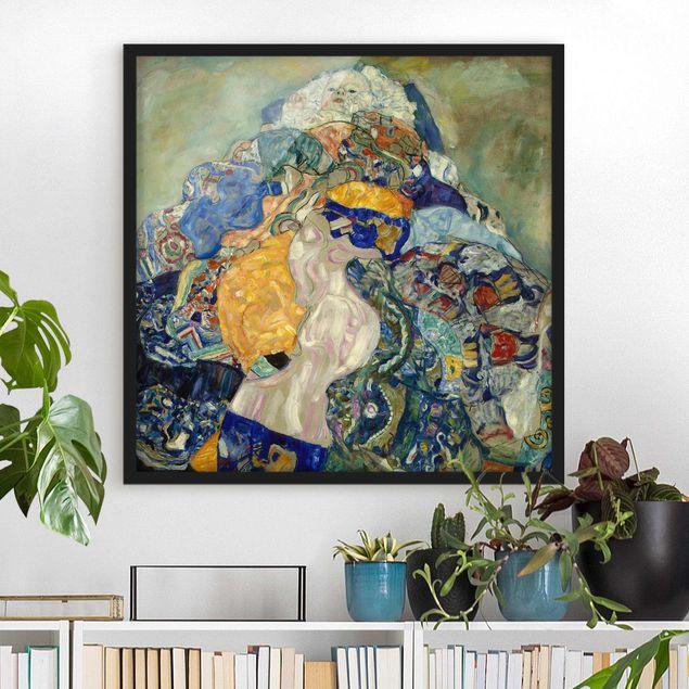 Bild mit Rahmen - Gustav Klimt - Baby (Wiege) - Quadrat 1:1