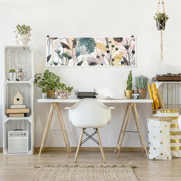 Poster - Wildblumen im Sommer II - Panorama Querformat