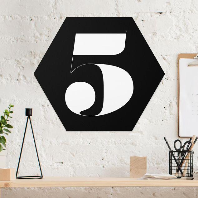 Hexagon Bild Forex - Antiqua Zahl 5