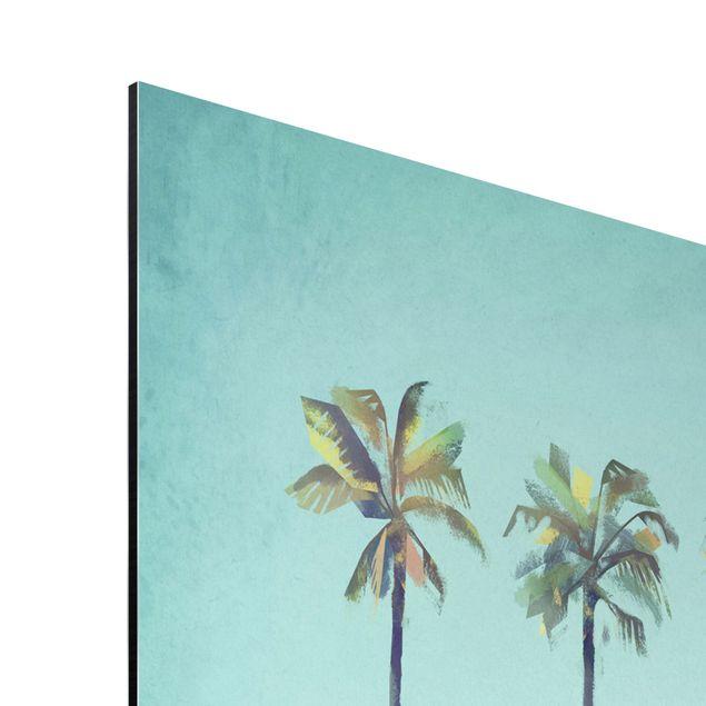 Aluminium Print - Reiseposter - Miami - Hochformat 3:2