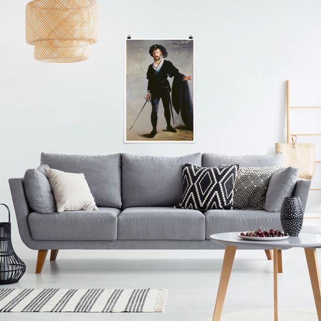 Poster - Edouard Manet - Der Sänger Jean-Baptiste Faure als Hamlet - Hochformat 3:2