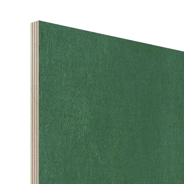 Holzbild - Abstrakte Formen - Kreise in Grün und Rot - Quadrat 1:1