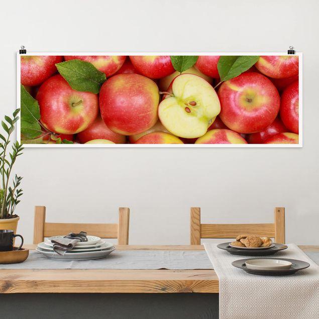 Poster - Saftige Äpfel - Panorama Querformat