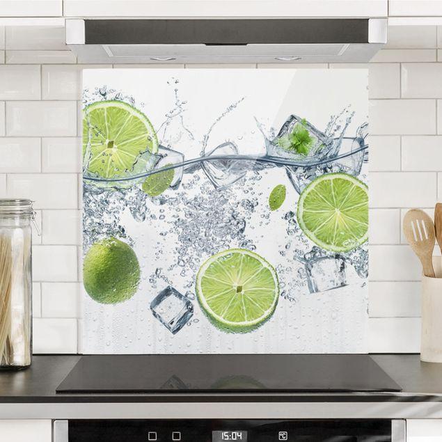 Glas Spritzschutz - Erfrischende Limette - Quadrat - 1:1