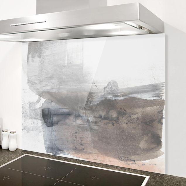 Glas Spritzschutz - Schattierungen in Sepia II - Querformat - 4:3