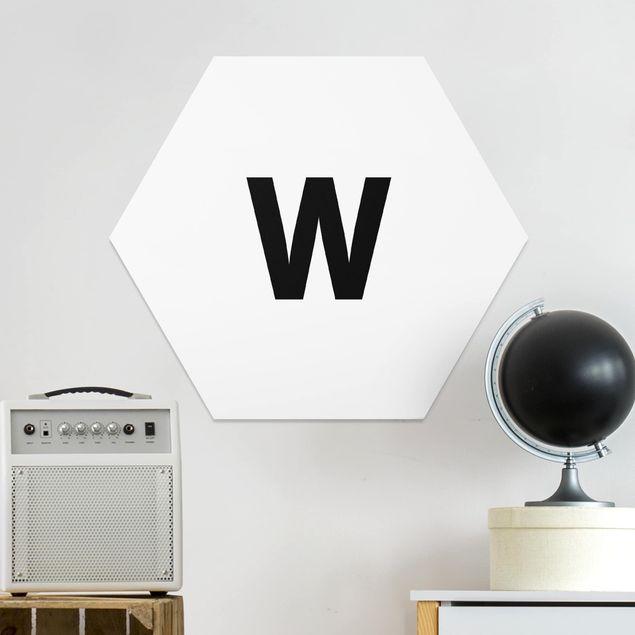 Hexagon Bild Forex - Buchstabe Weiß W