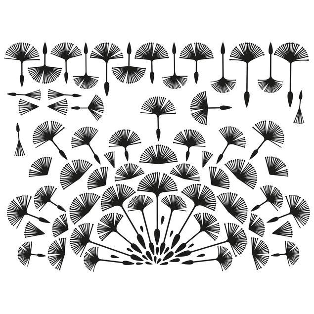 Wandtattoo - Abstrakte moderne Pusteblume