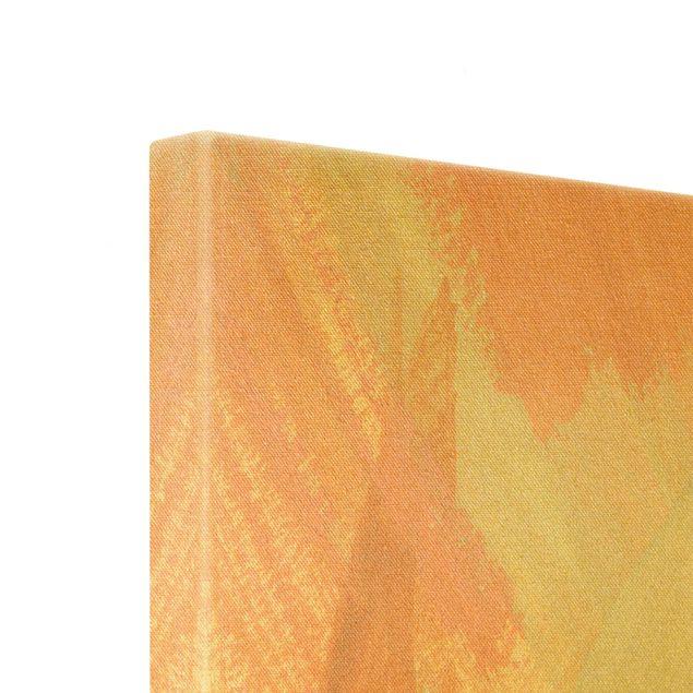 Leinwandbild Gold - Pink und Vanille I - Quadrat 1:1