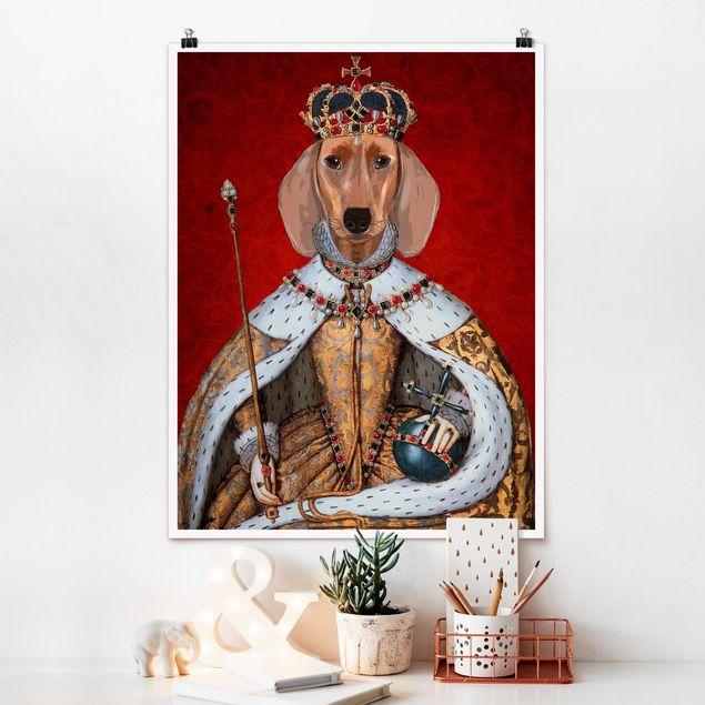 Poster - Tierportrait - Dackelkönigin - Hochformat 3:4