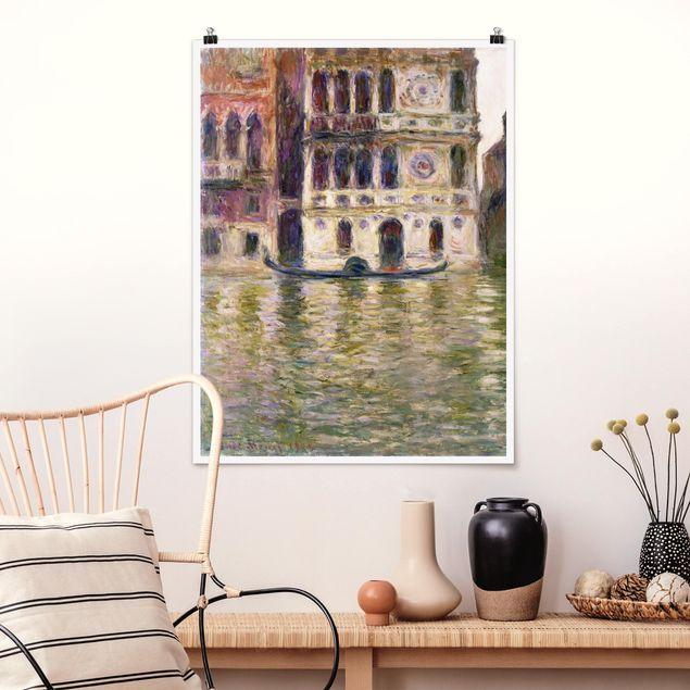 Poster - Claude Monet - Palazzo Dario - Hochformat 3:4