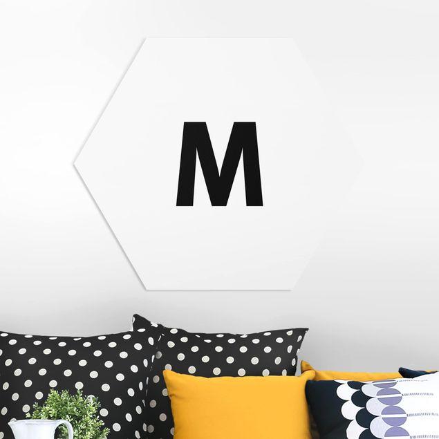Hexagon Bild Forex - Buchstabe Weiß M