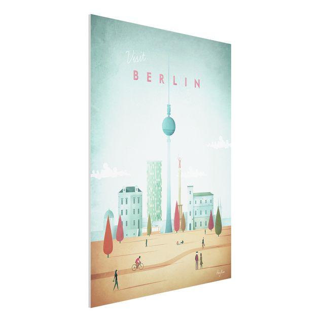 Forex Fine Art Print - Reiseposter - Berlin - Hochformat 4:3
