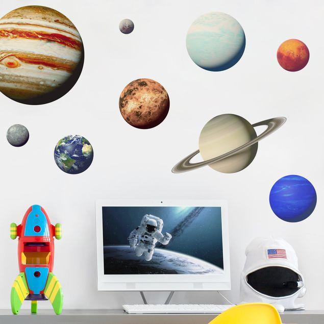 Wandtattoo - Sonnensystem mit Planeten