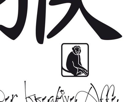 Wandtattoo Affe No.UL777 Chinesisches Tierkreiszeichen Affe
