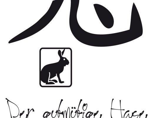 Wandtattoo No.UL781 Chinesisches Tierkreiszeichen Hase