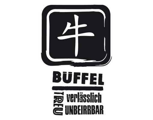 Wandtattoo No.UL790 Chinesisch Büffel