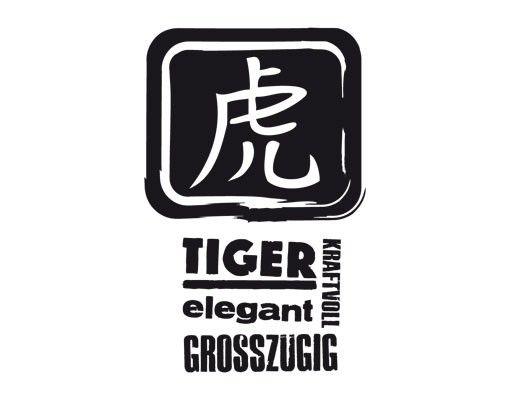 Wandtattoo Tiger No.UL800 Chinesisch Tiger