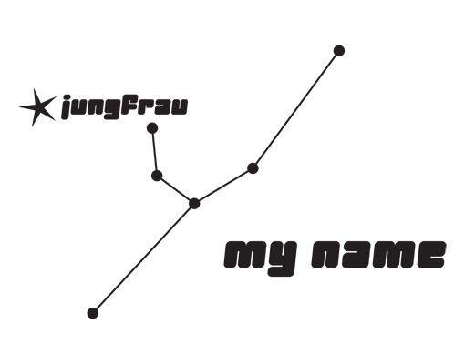 Wandtattoo Sprüche - Wandtattoo Namen No.UL802 Wunschtext Sternbild Jungfrau