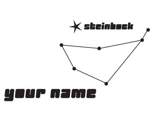 Wandtattoo Sprüche - Wandtattoo Namen No.UL811 Wunschtext Sternbild Steinbock