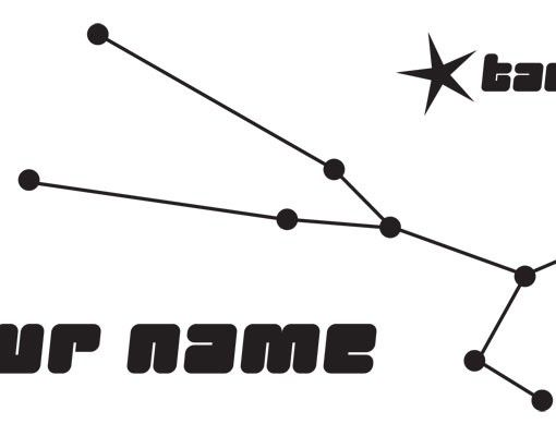 Wandtattoo Sprüche - Wandtattoo Namen No.UL817 Wunschtext Sternbild Taurus