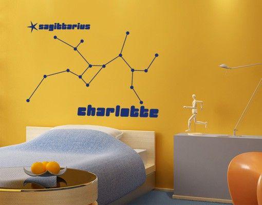Wandtattoo Sprüche - Wandtattoo Namen No.UL823 Wunschtext Sternbild Sagittarius