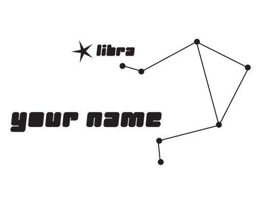 Wandtattoo Sprüche - Wandtattoo Namen No.UL826 Wunschtext Sternbild Libra