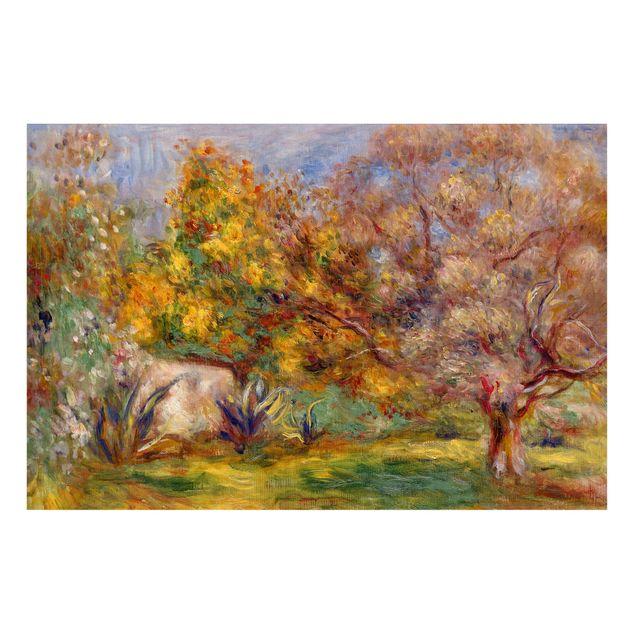 Magnettafel - Auguste Renoir - Garten mit Olivenbäumen - Memoboard Querformat 2:3
