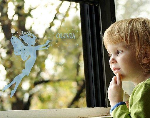 Fensterfolie - Fenstertattoo No.RY1 Wunschtext Elfenname - Milchglasfolie