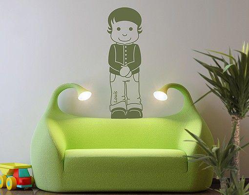 Wandtattoo Babyzimmer No.RY2 Wunschtext Louis
