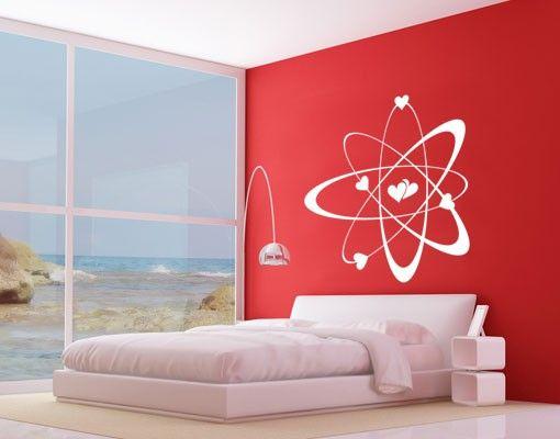 Wandtattoo No.UL830 Atommodell Liebe