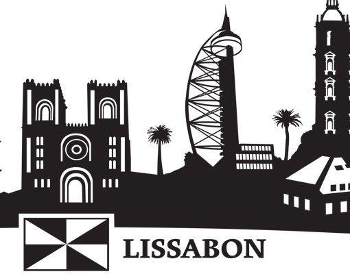 Wandtattoo Skyline No.MW110 Skyline Lissabon