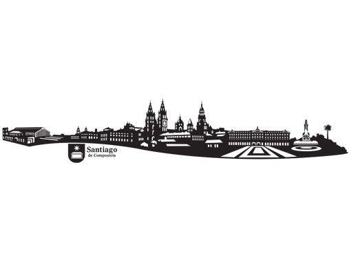 Stadt Santiago de Compostela - Wandtattoo Skyline - No.MW120 Skyline Santiago de Compostela