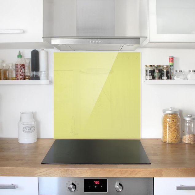 Glas Spritzschutz - Pastellgrün - Quadrat - 1:1