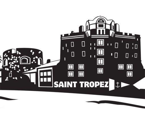 Wandtattoo Skyline No.MW122 Skyline Saint Tropez