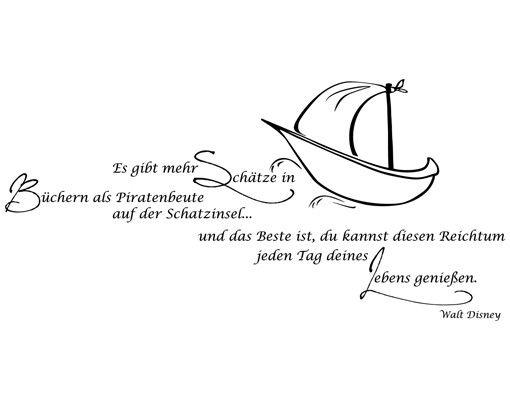 Wandtattoo Kinderzimmer Zitate - Wandzitate No.AK4 Schätze in Büchern