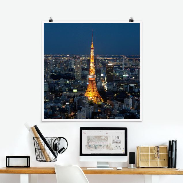 Poster - Tokyo Tower - Quadrat 1:1