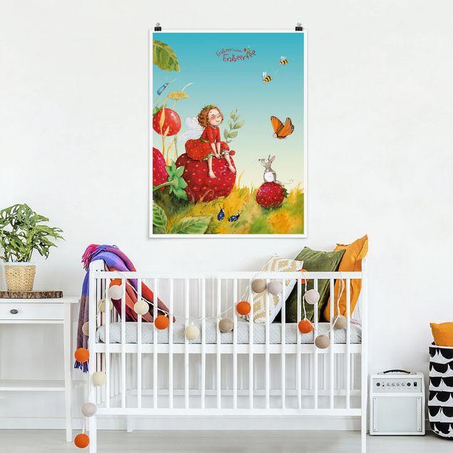 Poster - Erdbeerinchen Erdbeerfee - Zauberhaft - Hochformat 3:4