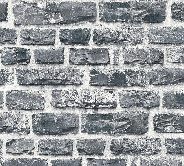 Livingwalls Mustertapete Neue Bude 2.0 in Bunt, Grau, Schwarz
