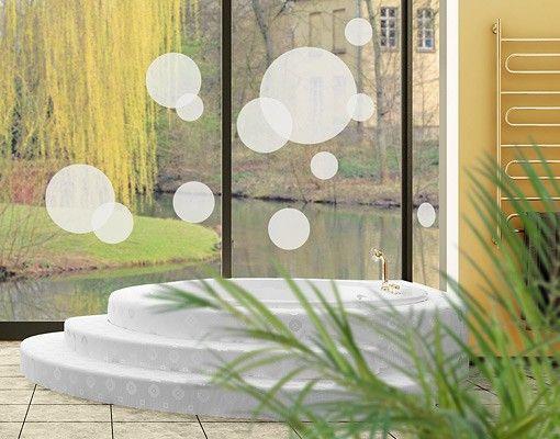 Fensterfolie - Fenstertattoo No.1166 Kreise I 12er Set - Milchglasfolie