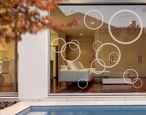 Fensterfolie - Fenstertattoo No.1180 Kreise III 12er Set - Milchglasfolie