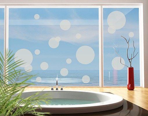 Fensterfolie - Fenstertattoo No.1184 Kreise II 18er Set - Milchglasfolie
